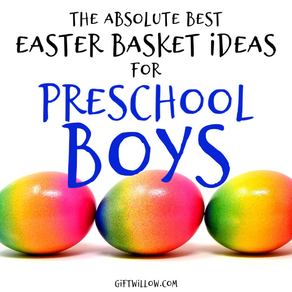 These are the best Easter basket ideas for preschoolers!  So if you're on the hunt for Easter basket fillers for boys, these are your answer.