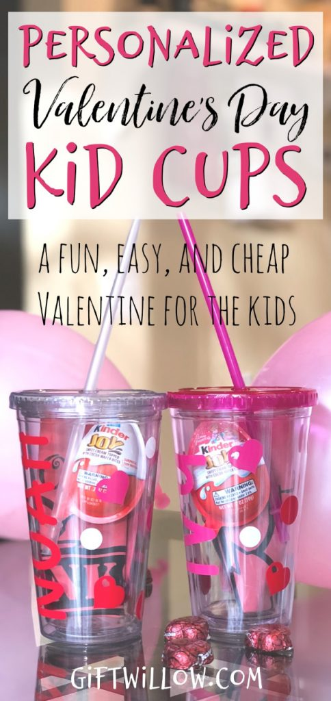 This Valentines Day gift for kids is a really fun, easy, and cheap valentine idea for kids!  It's also a personalized and practical gift, which is a huge bonus.