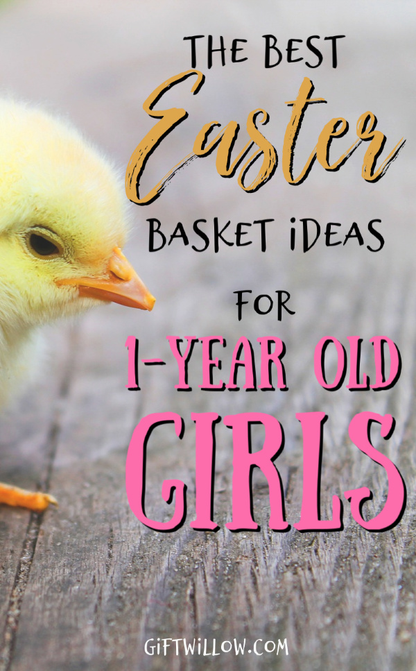 These are the absolute best Easter basket ideas for 1-year old girls.  All of these fillers are sure to make your toddler (and you) happy on Easter morning!