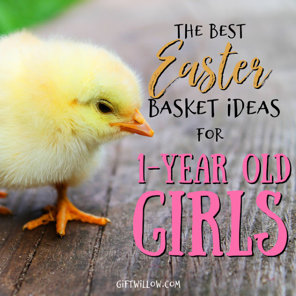 These Easter basket fillers for 1-year old girls are the best Easter basket ideas for toddlers that you can find!  You will all be so happy Easter morning and your shopping will be easy as can be.