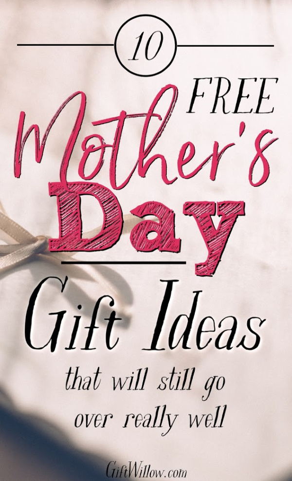 These free Mother's Day gifts are great ideas when you have a tight budget but still want to celebrate your mom!  They're unique gifts that will be even more memorable than expensive ones.