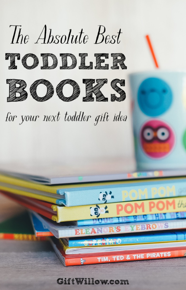 These are the best toddler books that you can find and they make excellent toddler gift ideas!  They're a lot of fun, educational, inexpensive, and will make both your baby and parents happy!