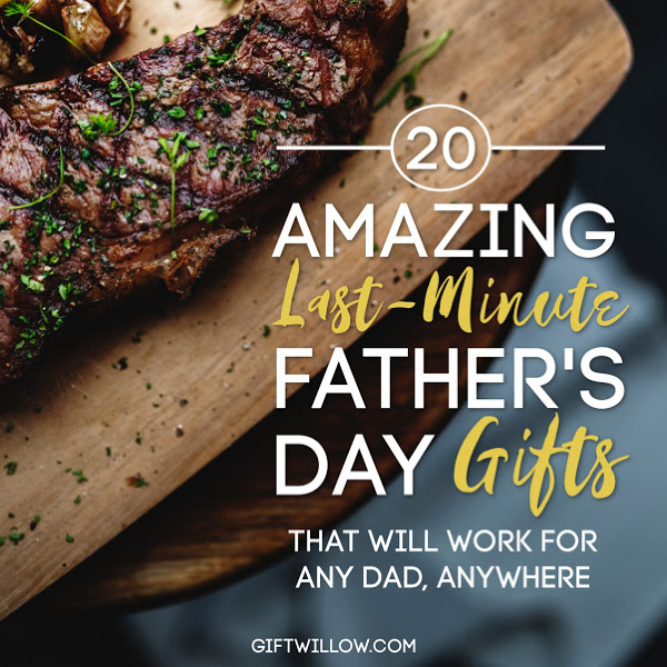 These last-minute Father's Day gift ideas are perfect for long-distance gifts for dads or local!  Even if you're on the way to see your dad, there's something you can stop to grab for him.