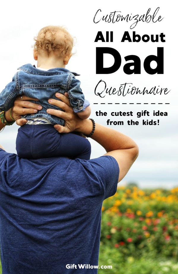 These customizable and printable All About Dad questions are the perfect gift for Dad from the kids!